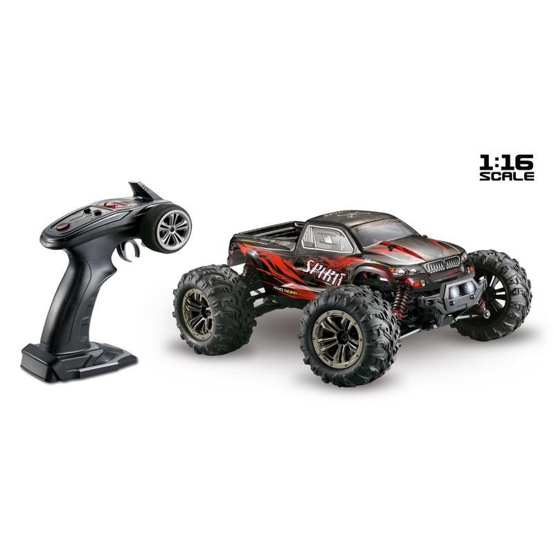 Scale 1:16 4WD High Speed Monster Truck SPIRIT 2,4GHz Black/Red