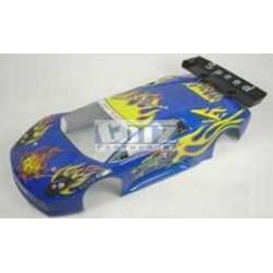 HBX Kaross blå flammor 1:10 Streetracer