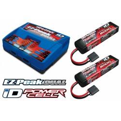 Laddare EZ-Peak Dual 8A och 2 x 3S 5000mAh Batteri Combo