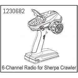6-Channel Radio for Sherpa Crawler