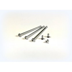 Aluminium screw set 3x short, 3x long