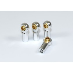 Aluminium Ball End incl. Ball Stud (4) silver 1:10