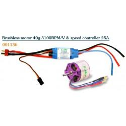 E-sky Borstlös motor 3100KV + fartreglage 25A