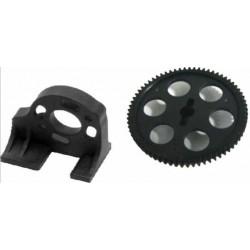 HBX Truggy XT - Motor mount + Spur gear 69T, plast