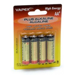 Plus Alkaline Batteri 1,5V AA/LR6 4-pack