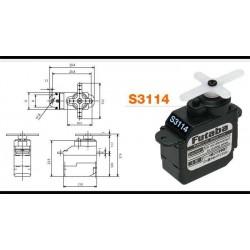 Futaba Servo S3114 micro 1,6kg 7,7g (4-pack)