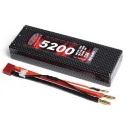 Maxam LiPo 7,4v 5200mAh 50C 4mm gold kontakter (Hard Case)