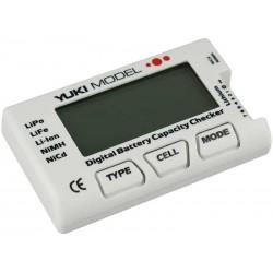 Digital Batterikapacitetsmätare • NiCd • NiMH • LiFE • LiPo