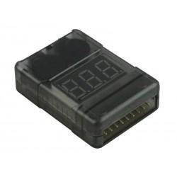 LiPo-Checker • 1-8S • med hölje • justerbar