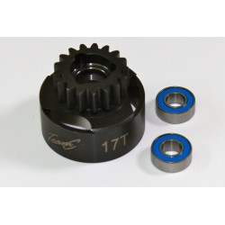 Clutch Bell 17T inclusive Ball Bearing 1:8 Comp.