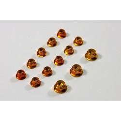 Alu Nut Set gold (13 pcs) 1:8 Comp.
