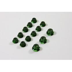 Alu Nut Set green (13) 1:8 Comp.