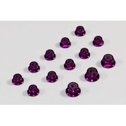 Alu Nut Set purple (13) 1:8 Comp.