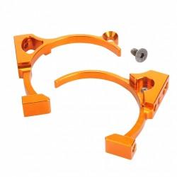 Fan Mount - Twin Fan Design, Orange