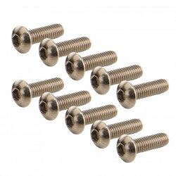 Titanium Hex Button Head M3x10 (10)