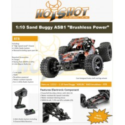 ABSIMA 1:10 EP Sand Buggy ASB1BL 4WD Brushless RTR Waterproof