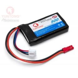 Yuntong LiPo batteri 7,4v 500mAh med JST- kontakt