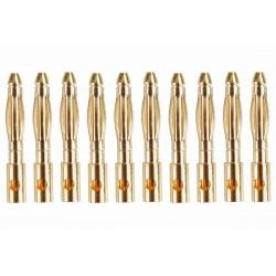 Guldkontakt hane Ø2,0mm 1 st